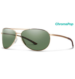 Smith Optics Serpico Slim 2 Matte Gold Polarized Gray Green/Chromapop Polarized