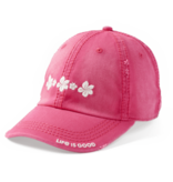 Life is Good Sunwashed Chill Hibuscus Hat, Pop Pink