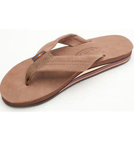 Rainbow M's Dark Brown Premier Leather Double Layer