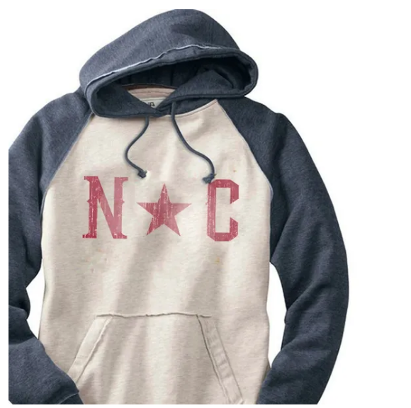 S.L. Revival Co. North Carolina Star Hippy Hoodie, Navy