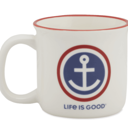 Life is Good Anchor Coin Happy Camper Mug