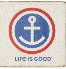 Life is Good Anchor Small Wooden Sign, Cloud White