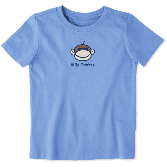 Life is Good Toddler Vintage Crusher, Silly Monkey Powder Blue