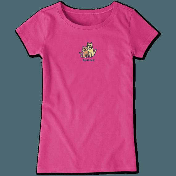 Life is Good Girl's Vintage Crusher, Besties Fiesta Pink