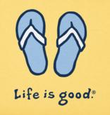 Life is Good Girl's Vintage Crusher, Flip Flops, Happy Yellow
