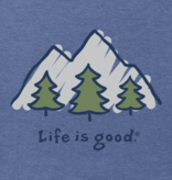 Life is Good M's Vintage Crusher, Take It Outside, Heather Vintage Blue