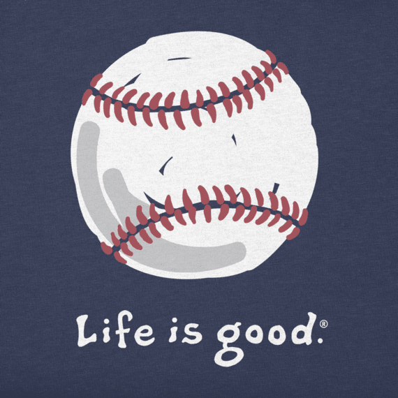 Life is Good M's Vintage Crusher, Baseball, Darkest Blue