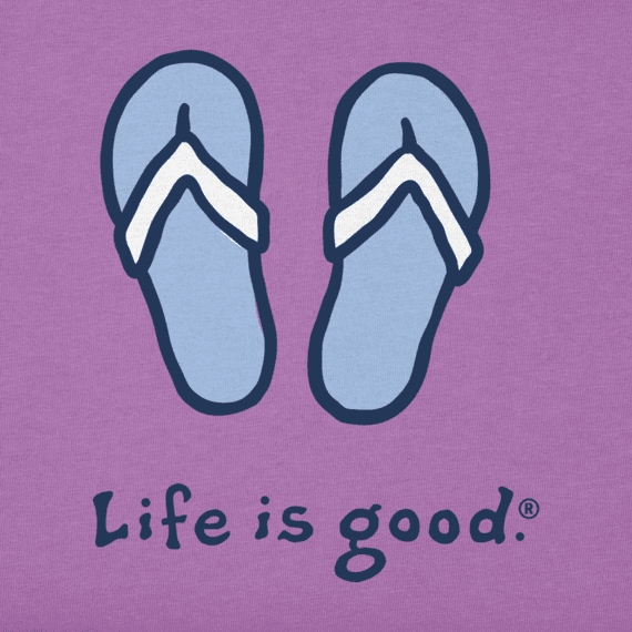 Life is Good W's Vintage Crusher, Flip Flops,  Happy Grape