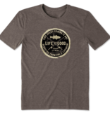 Life is Good M's Cool Tee, Keep It Reel Stamp, Rich Brown