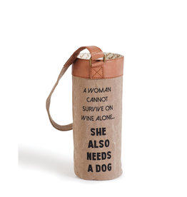 A Girl and Her Dog Wine Bag