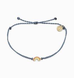 Puravida Gold Rainbow Bracelet, Blue