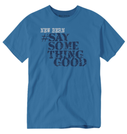 Surf, Wind and Fire New Bern Say Something Good, Unisex Tee, Blue