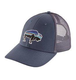 Patagonia Fitz Roy Bison LoPro Trucker Hat, Dolomite Blue