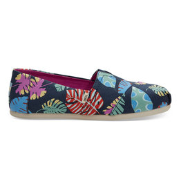 TOMS W's Alpargata Classics, Navy Tropical Leaves
