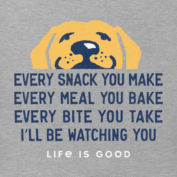 Life is Good Men's Crusher Tee I'll Be Watching You, Heather Grey
