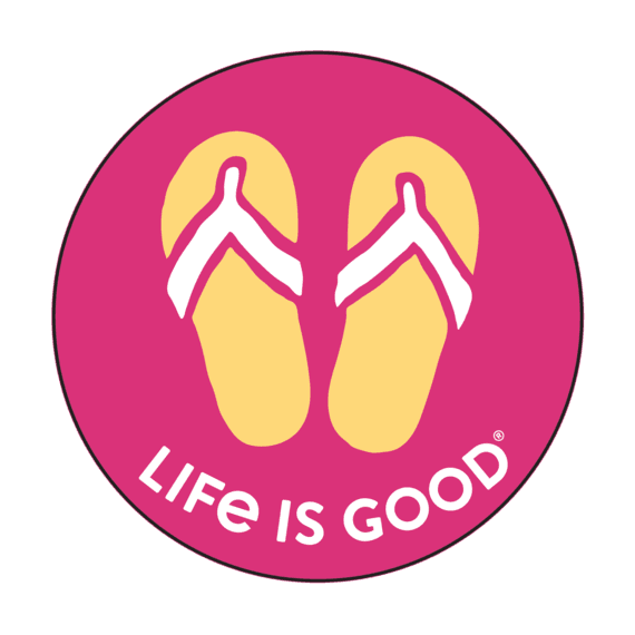Life is Good Flip Flop Magnet