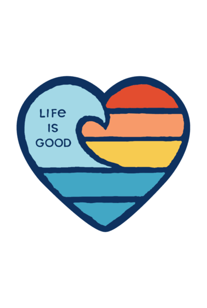 Small Die Cut Wave Heart Sticker