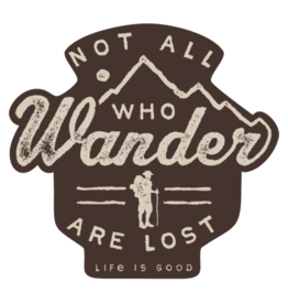 Life is Good Wander Hike Sticker