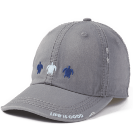 Life is Good Three Turtles Sunwashed Chill Cap, Slate Gray