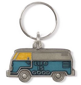 Life is Good LIG Van Keeper Keyring, Aqua Blue