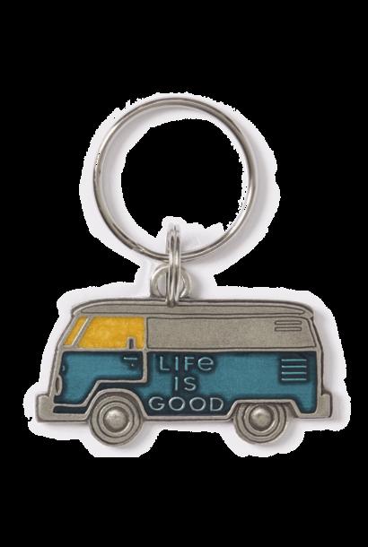 LIG Van Keeper Keyring, Aqua Blue
