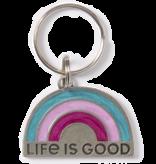 Life is Good LIG Rainbow Keeper Keyring, Seaport Blue