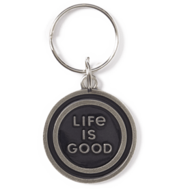 Life is Good LIG Coin Keeper Keyring, Night Black