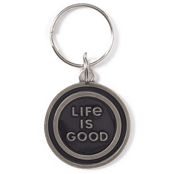 Life is Good LIG Coin Keeper Keyring, Night Black
