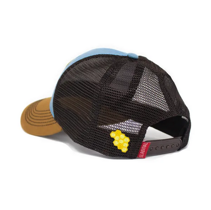 S.L. Revival Co. Honey Bee Everyday Structured Trucker Hat, Earth and Sky