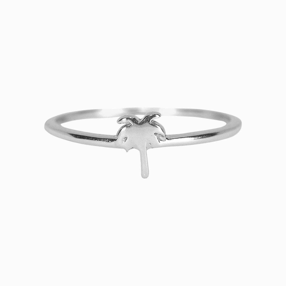 Puravida Palm Tree Ring, Silver