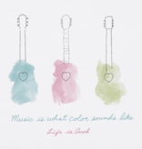 Life is Good W's Crusher Tee, Music Watercolor, Cloud White