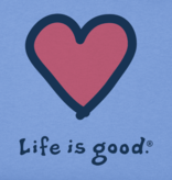 Life is Good Kid's Heart, Vintage Crusher, Powder Blue