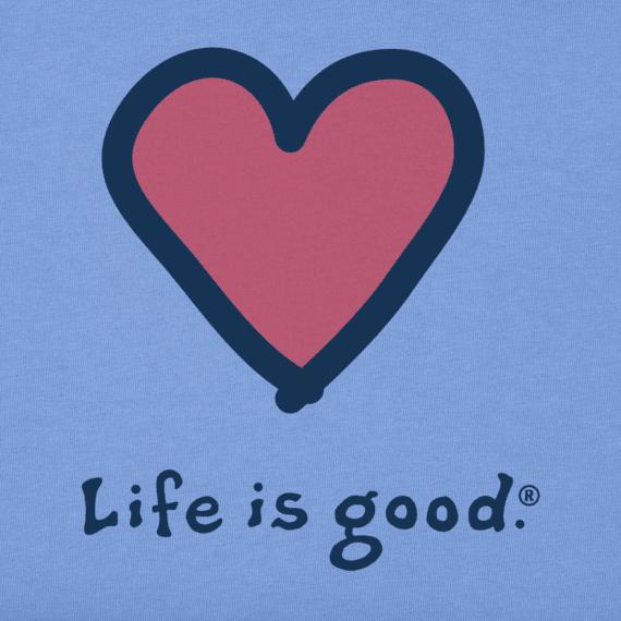 Life is Good Kid's Heart, Vintage Crusher, Powder Blue