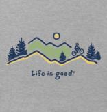 Life is Good M's Vintage Crusher, Bike Vista, Heather Grey