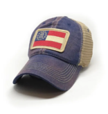 S.L. Revival Co. Georgia Flag Trucker Hat, Navy