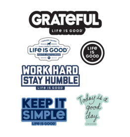 Life is Good A Six-Pack Positive Sticker Pack