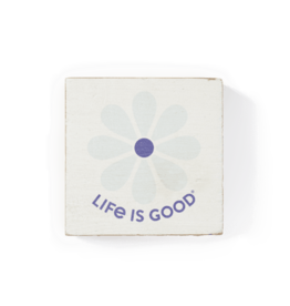 Life is Good Small Wooden Sign, Simple Daisy, Bone