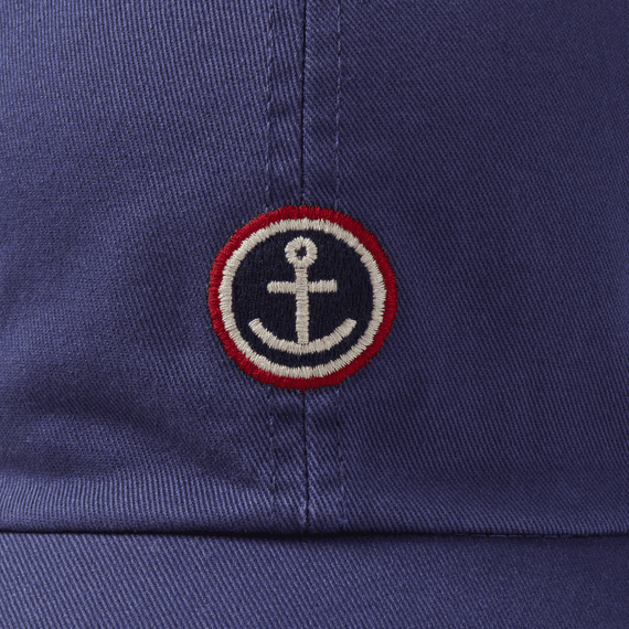 Life is Good Chill Cap, Anchor Patch, Darkest Blue