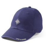 Life is Good Chill Cap, Simple Compass, Darkest Blue