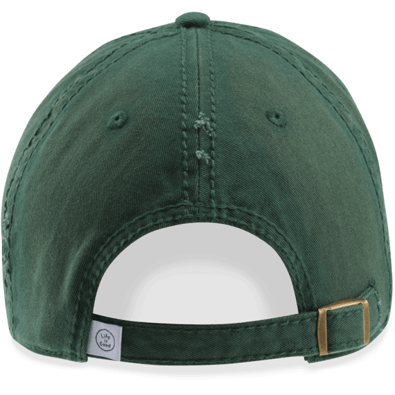 Life is Good Sunwashed Chill Cap, Outdoor LIG, Forest Green