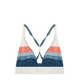 Carve Designs Marbella Reversible Top, Strata Stripe/Fern Grove