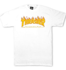 Eastern Skate Supply Thrasher Flame Short Sleeve T-Shirt, White