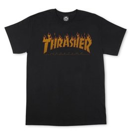 Eastern Skate Supply Thrasher Flame Halftone Short Sleeve T-Shirt, Black