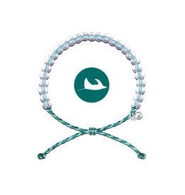 4Ocean Glass Bead Bracelet, Manta Ray