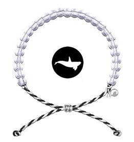 4Ocean Glass Bead Bracelet, Orca