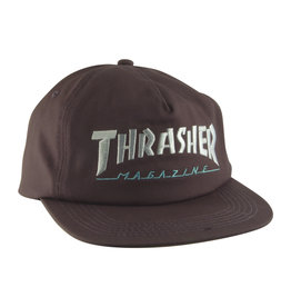 Eastern Skate Supply Thrasher Two Tone Mag Logo Hat, Charcoal/Mint
