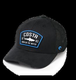 Costa Del Mar Chatman Shark Twill Trucker Hat, Black