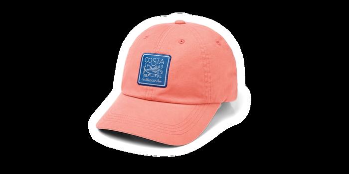 Costa Del Mar Longboat Patch Hat, Coral