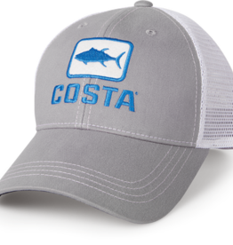 Costa Del Mar Costa Tuna Trucker Hat, Gray
