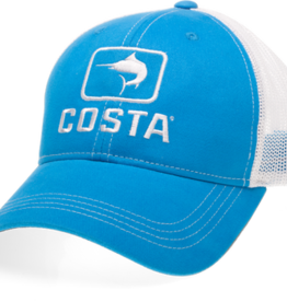 Costa Del Mar Marlin Trucker Hat, Blue/White